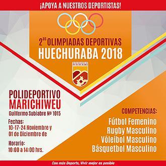 2° OLIMPIADAS DEPORTIVAS HUECHURABA 2018