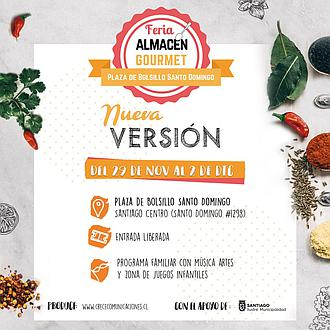 Feria Almacén Gourmet - Plaza de Bolsillo Santo Domingo